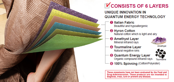 Quantum Energy Comforter Layers